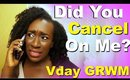 Valentines Day GRWM | U Part Wig Braidout on 4c Natural Hair + Makeup