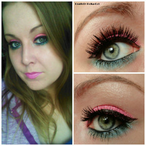 Pink glitter and turquoise inspired by Katy Perry