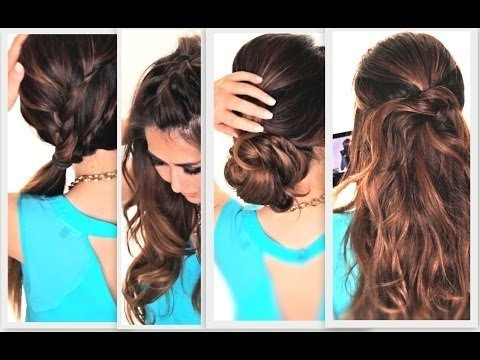 6 EASY LAZY SUMMER HAIRSTYLES   CUTE EVERYDAY HAIRSTYLE   MakeupWearables Hairstyles ★ Hair ...