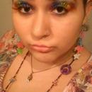 Mega Rainbow! Eyeshadow and eyelashes!