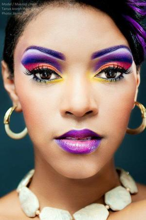 bold and bright, I created this look using my Coastal Scents Creative Me #1 palette