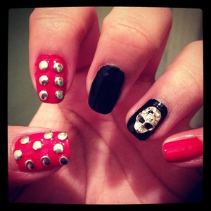 Studs and skull