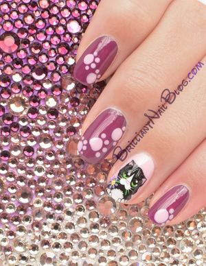 For details & product list visit: http://brilliantnailblog.com/cute-kitty-nail-art
