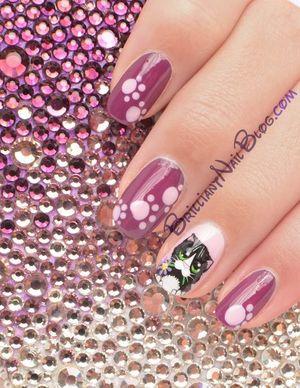 For details & product list visit: http://brilliantnailblog.com/cute-kitty-nail-art