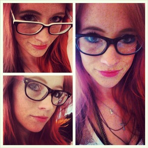new glasses and new make up style.