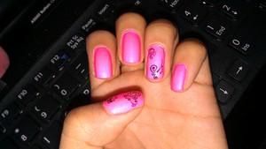 I love this hot pink nail polish