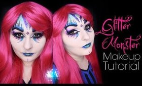 Glitter Monster Halloween Makeup Tutorial