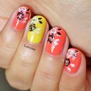 Summer Roses Nail Design