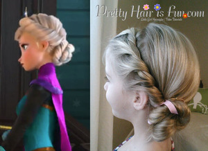 How to do the Elsa hairstyle from Frozen, the Coronation hairstyle.