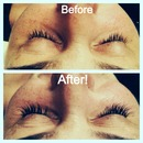 Before & After semi permanent eyelashes!