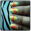 Neon Polka Dot Stripes