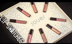 Swatches- Jouer Cosmetics Best Of Nudes Mini Lip Crème Set