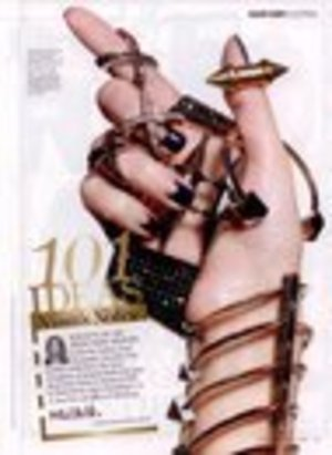 Marie Claire-Nails-Reverse Moon French-Vintage-Navy Blue & sheer pink