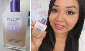 New Loreal Magic Nude Liquid Powder Foundation Review & Demo!