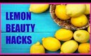 Summer Lemon Beauty Hacks