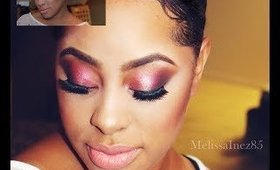 AIRBRUSH MAKEUP ON A CLIENT: BRIGHT AND BOLD