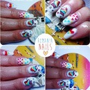 Romanian inspired nail art