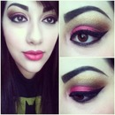 Pink and gold look