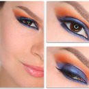 How to: Blue and Orange Makeup Tutorial