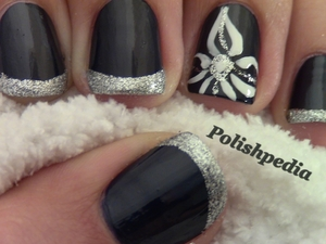 This flower nail art is the first of my Elegant Tuesday Nail Art Series.  I love how these nails turned out.  You can see my complete tutorial here in my videos or visit my website @ http://www.polishpedia.com/flower-nail-art.html