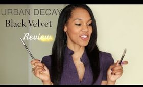 Review: Urban Decay Black Velvet vs Perversion vs Zero