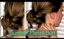 Messy, Twisted Bun in 2 Minutes || RachhLoves