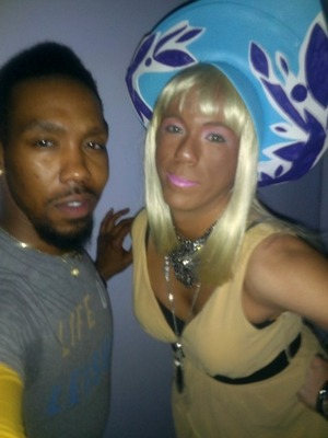 Hip-Hop night at the club I used to manage... I was the host for the evening so I was Tricki Minaj... lol... Imade the hat... the costume was based off of Check it Out.