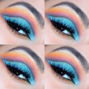 Colourful cut crease