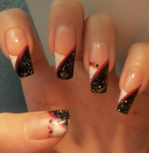 My real nails, just grown very long. My poor thumb nail didn't make it! :(