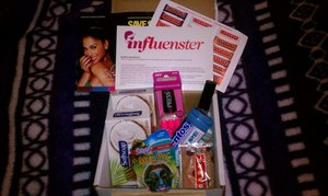 My Influenster Holiday Voxbox  received it on Xmas Eve '11