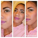 FOTD: Gold & Blue Eyes + Purple Lipstick