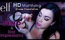 Elf HD Mattifying Cream Foundation DEMO & First Impressions