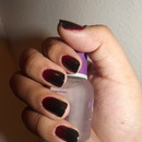 Black and Red Gradient Nails