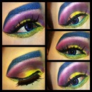 Crazy colorful look