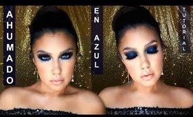 Ahumado en AZULES / BLUE NAVY smokey eye makeup tutorial  auroramakeup