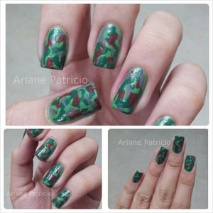 A Matte Version of this nail art, visit this link : http://www.beautylish.com/f/qzrvrm/matte-camo-nails