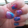 Water Marbled Nails