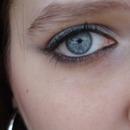 Silver and Purple Smokey eyes