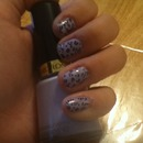 leopard Lavender Nails