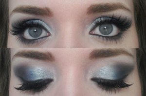 Eyeshadows are by an unknown brand, the lashes are Kara 48 100% Human hair