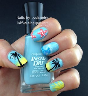 This look is for Sally Hansen's iHeart Nail Art contest. If you want to vote for me you can do so here:http://www.sallyhansen.com/i-heart-nail-art/contest/entry-lyubomira-lyubenova-1400779902