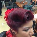 Hair vintage updo
