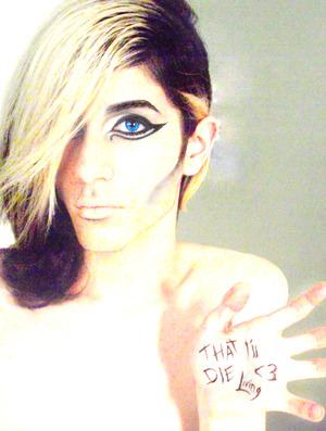 "Shot for a fan vid of Lady Gaga's ""Hair"" ."