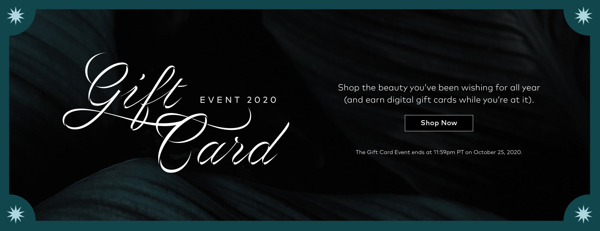 Gift Card Event starts NOW!