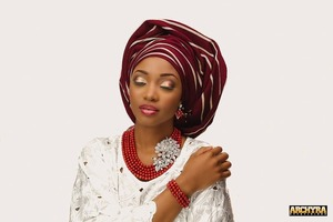 Created a African traditional bridal look...