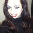 Christmas red lips!