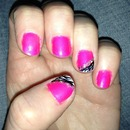 pink with black and white zebra pattern and sparklies