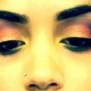 Sunset eyeshadow