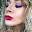 Pastel Lilac Smokey Eye With Vibrant Pink Winged Eyeliner Easter Makeup Tutorial