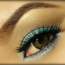 Soft brown & turquoise look